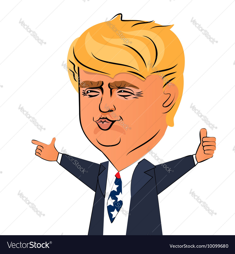 August 03 2016 donald trump character vector