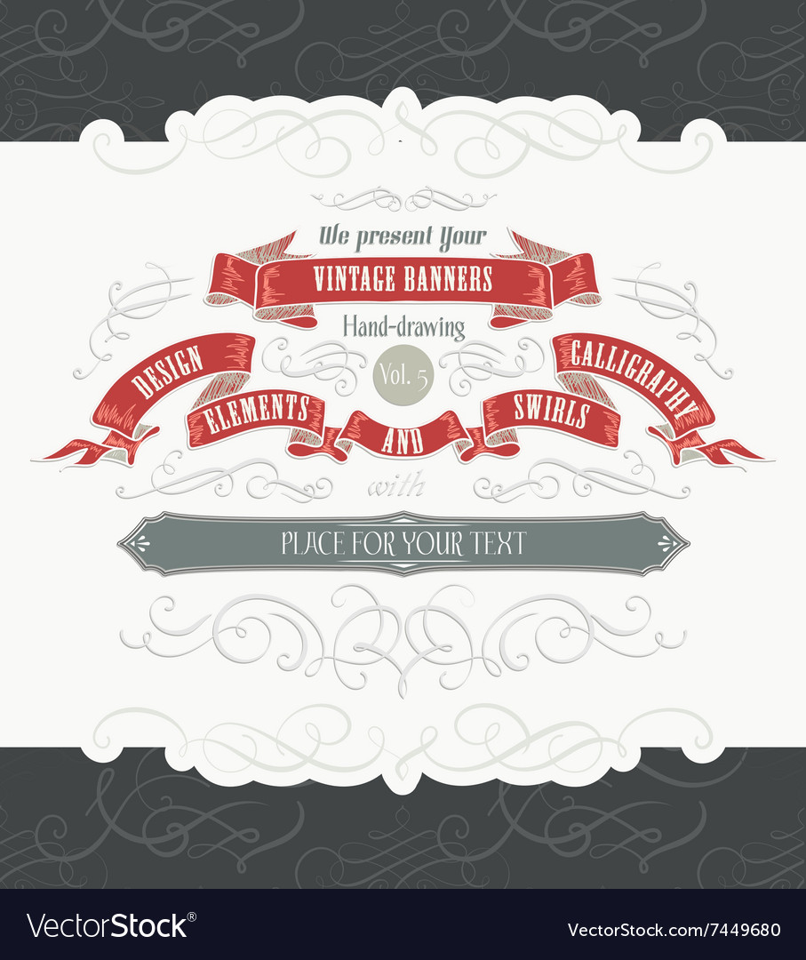 Decorative frames and swirly elements vector