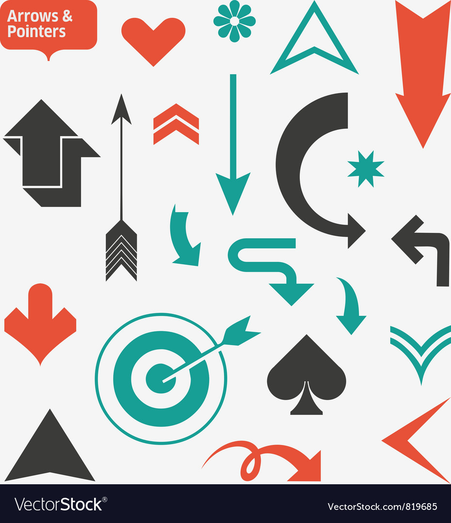 Arrows and pointers vector