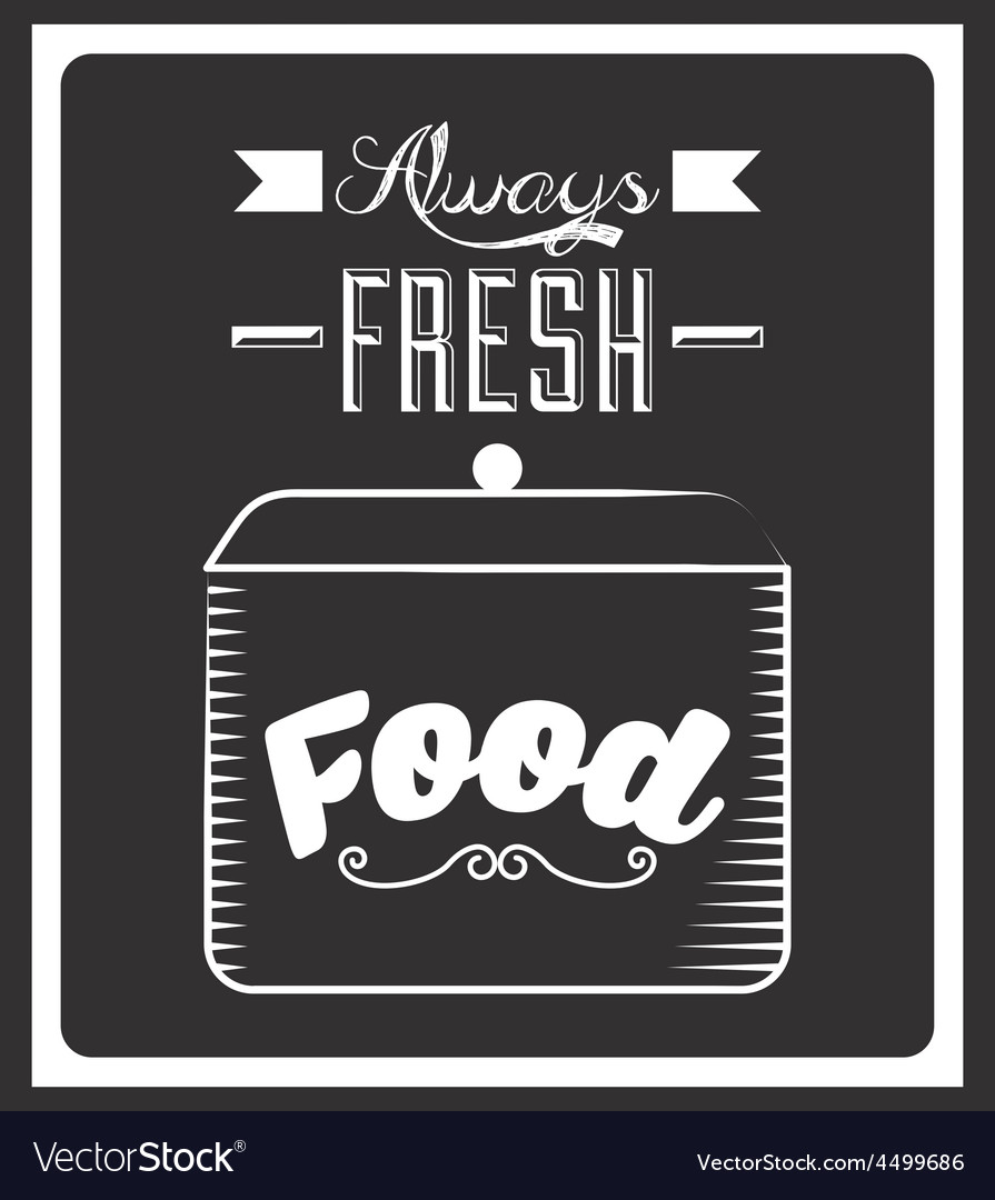 Chalkboard menu vector