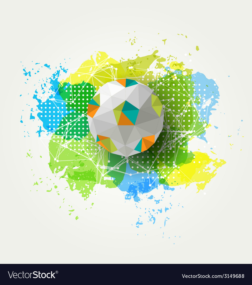 Abstract colorful ball vector