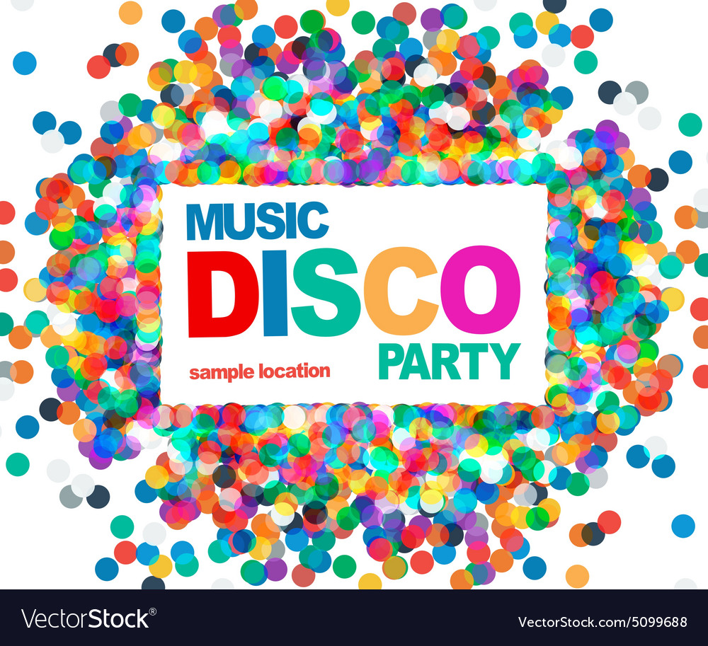 Disco party poster vector