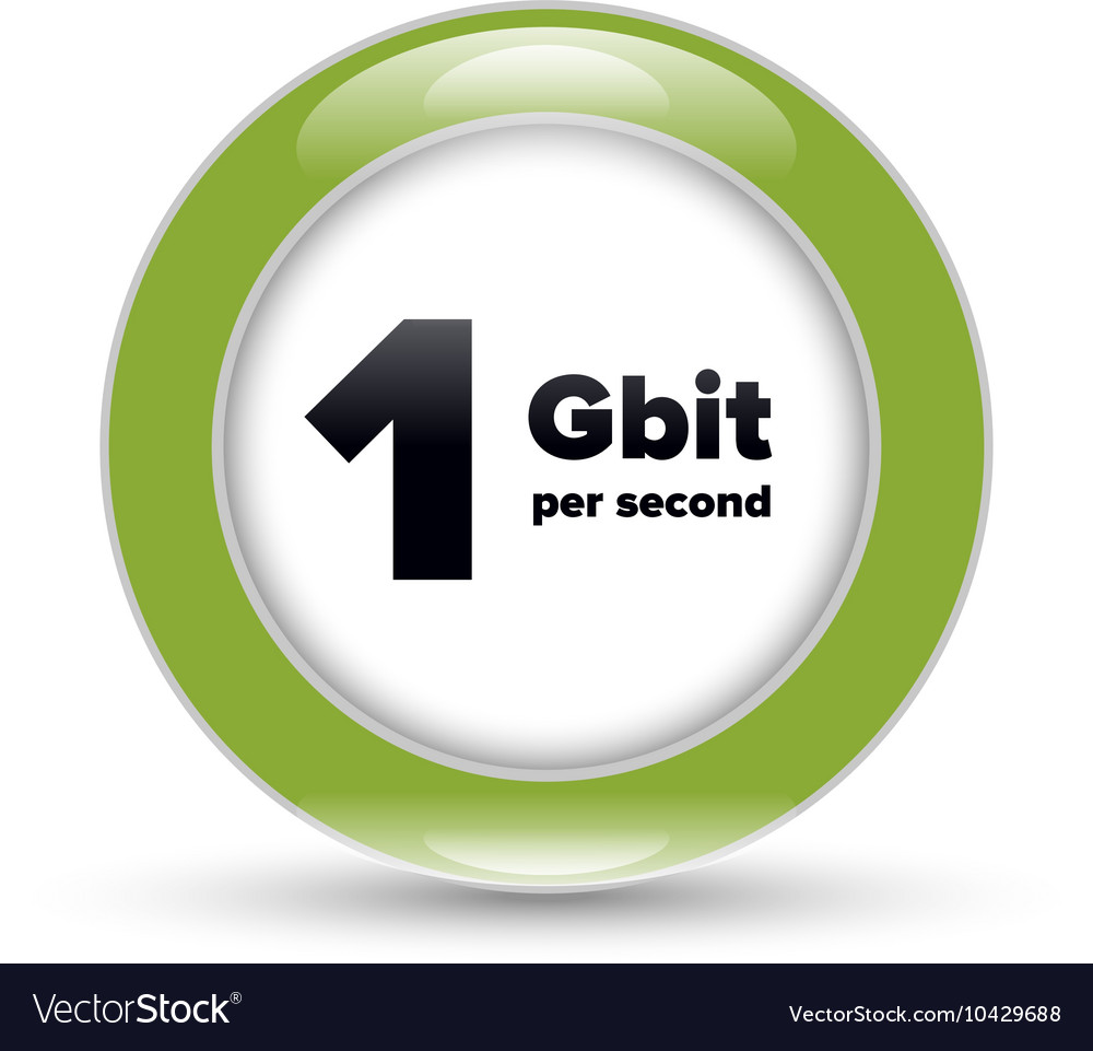 Gigabit shiny bubble sign vector