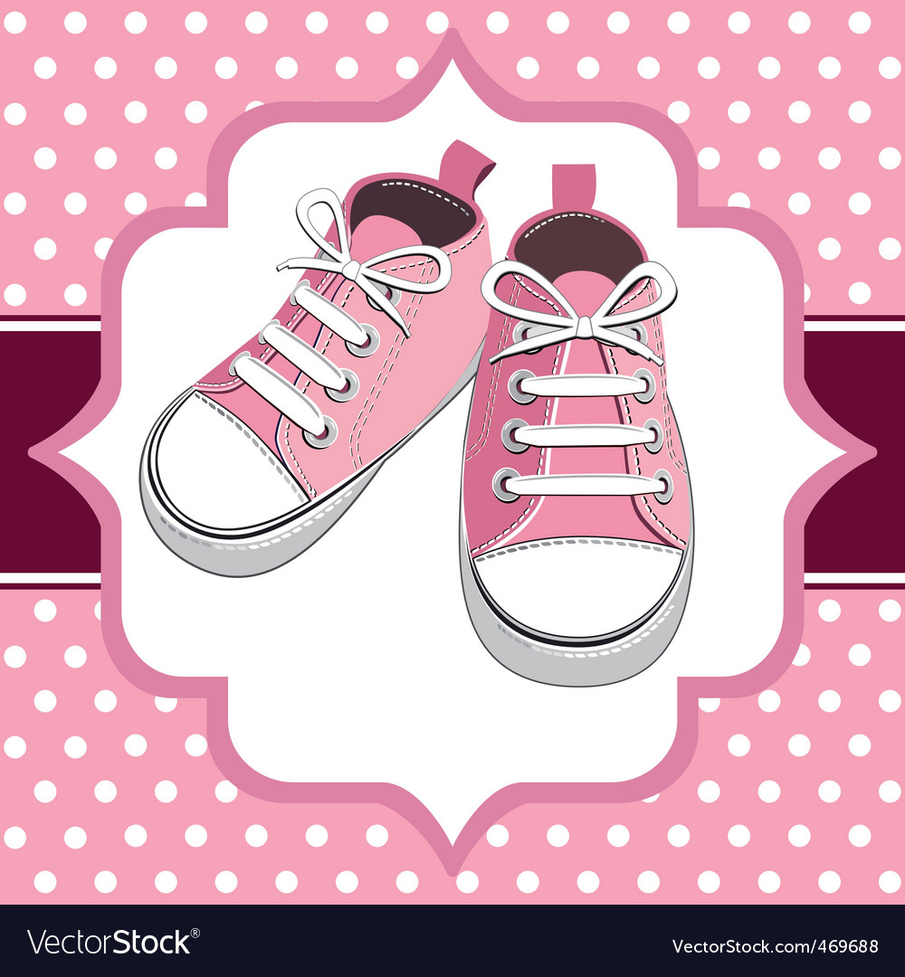 Kids sneakers vector