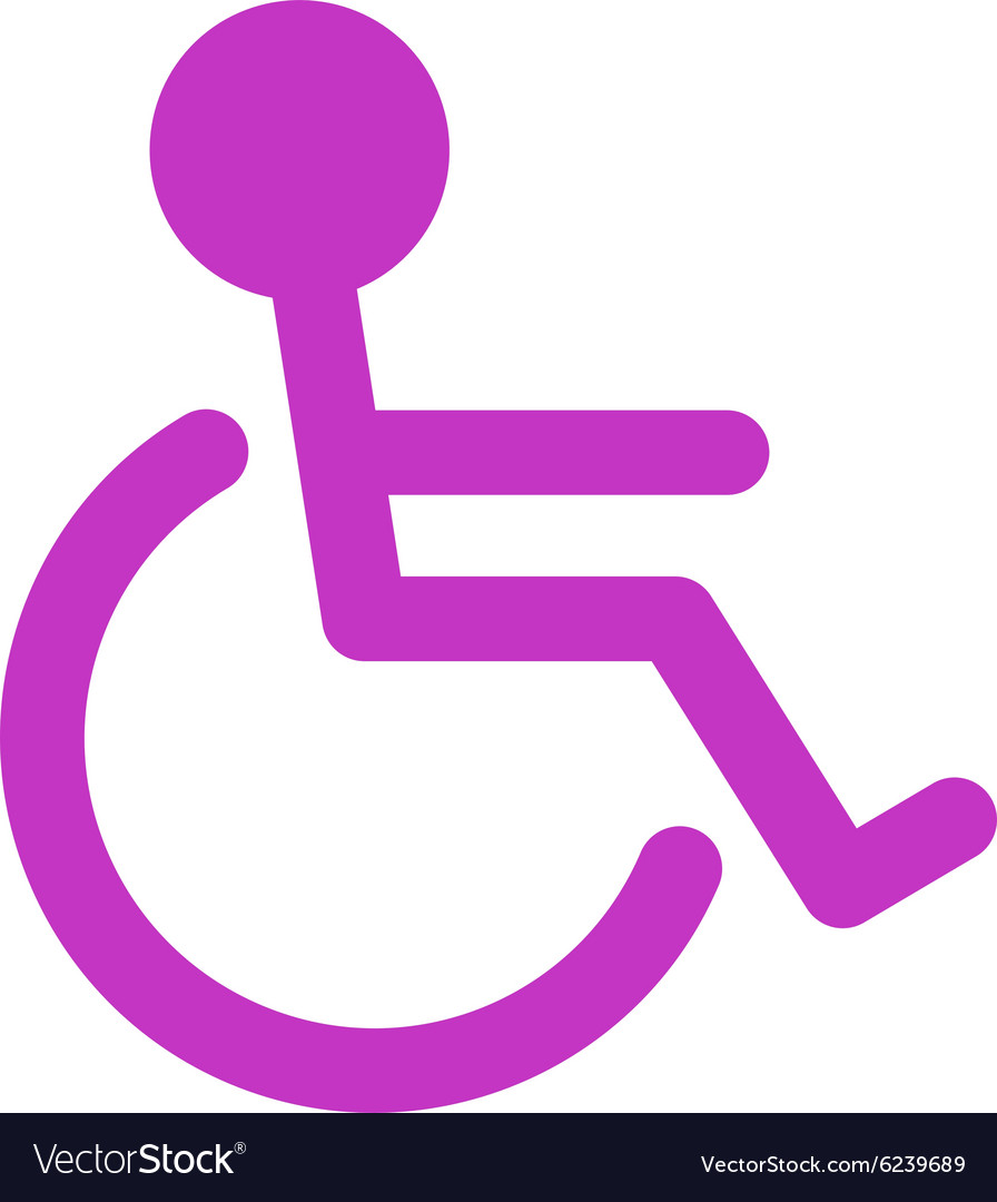 Handicapped icon vector