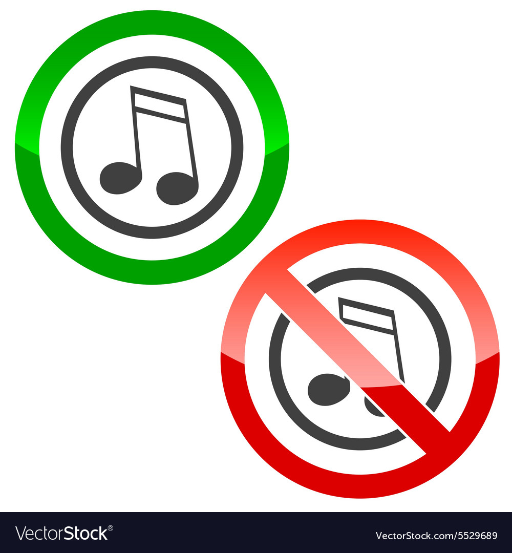 Music permission signs 2 vector