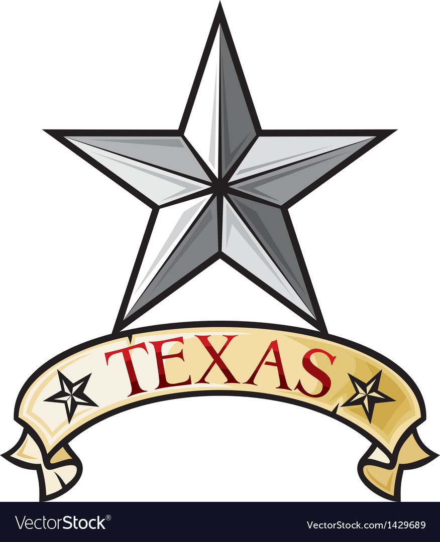 Star  symbol of the state of texas vector
