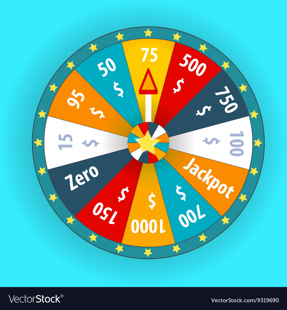 Happy colorful wheel of fortune vector