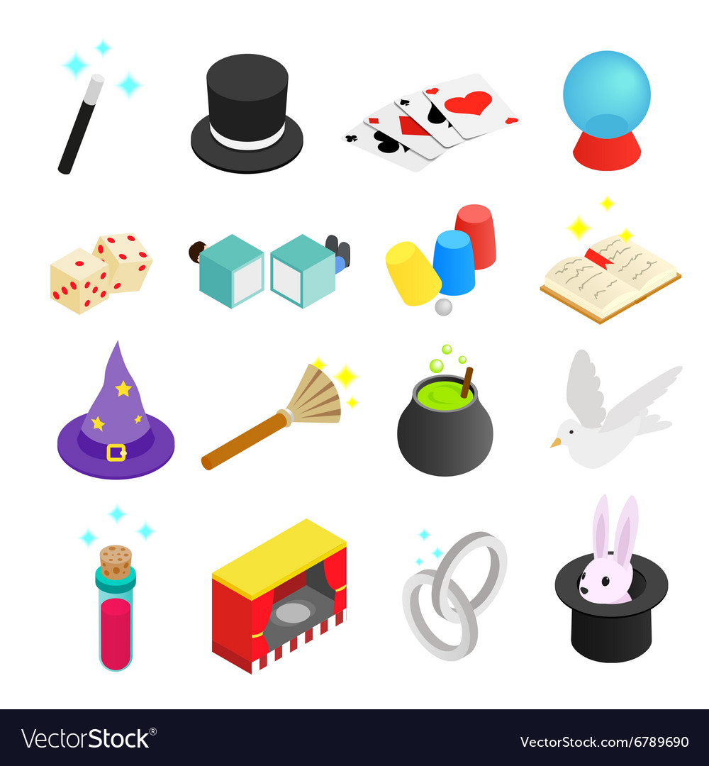 Magic isometric 3d icon vector