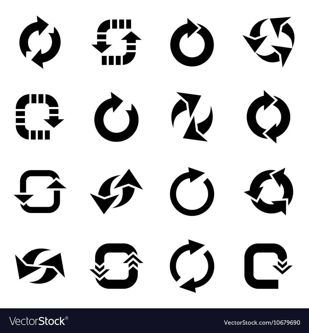 Refresh icon set vector