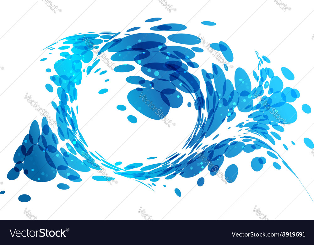 Aqua background water splash vector