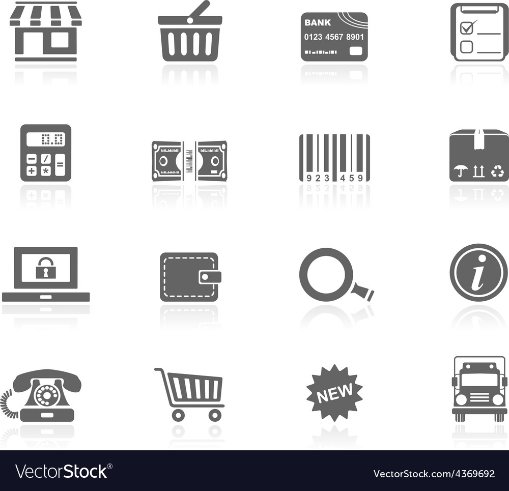 Black icons  shopping vector