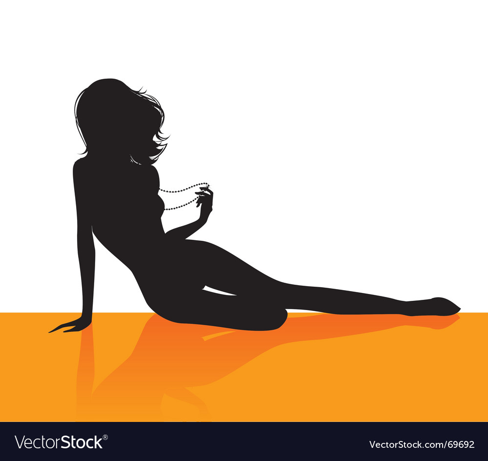 Orange girl vector