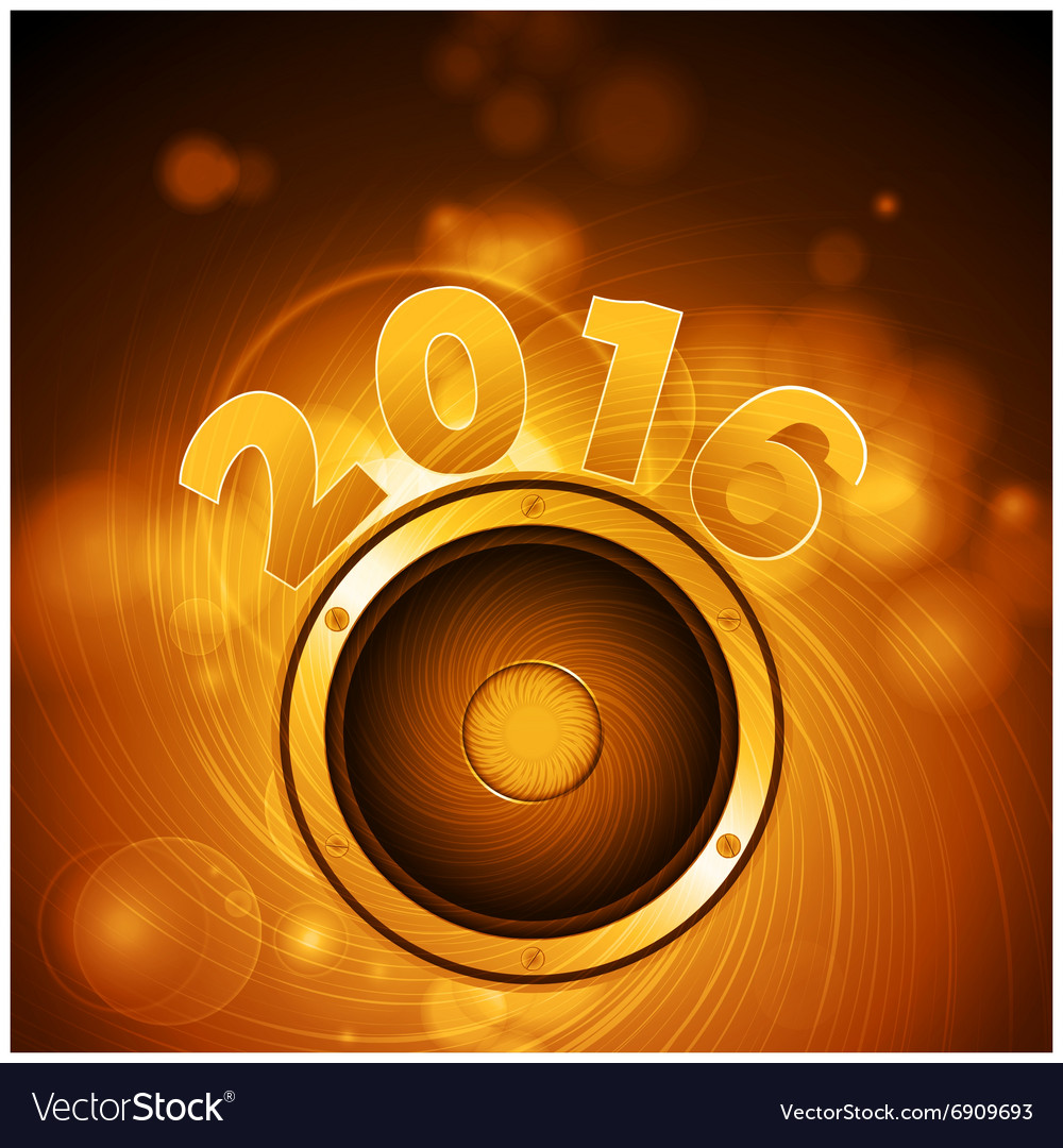 Golden loudspeaker 2016 background vector