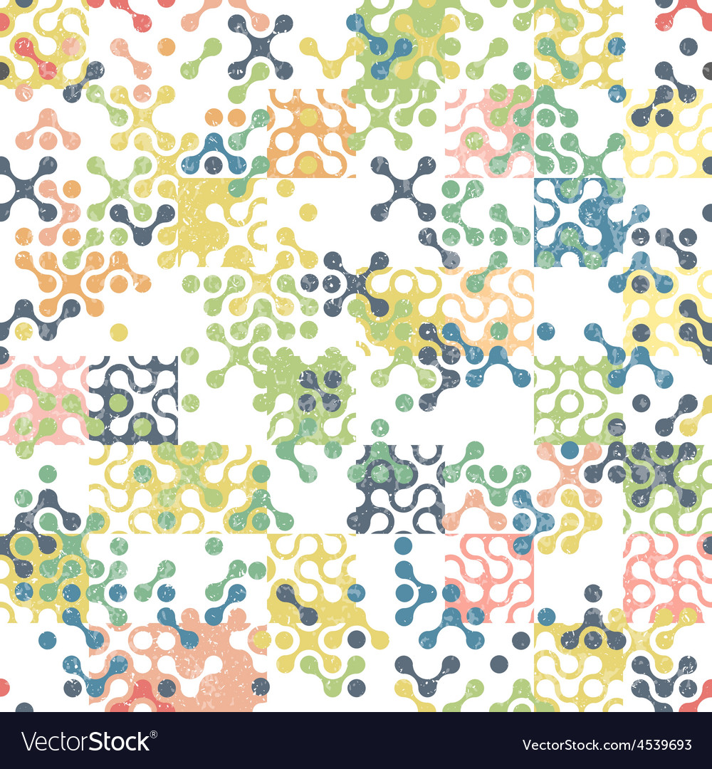Seamless aged pattern connections vector