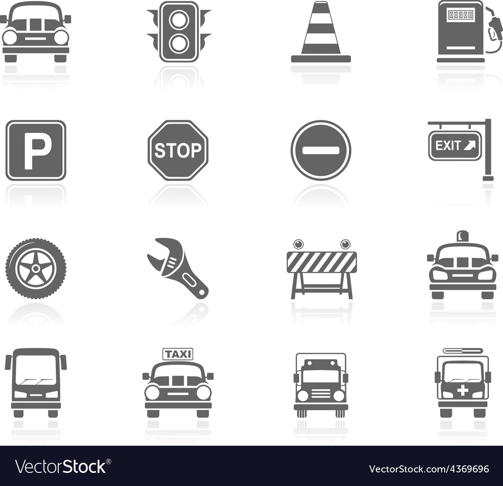 Black icons  traffic vector