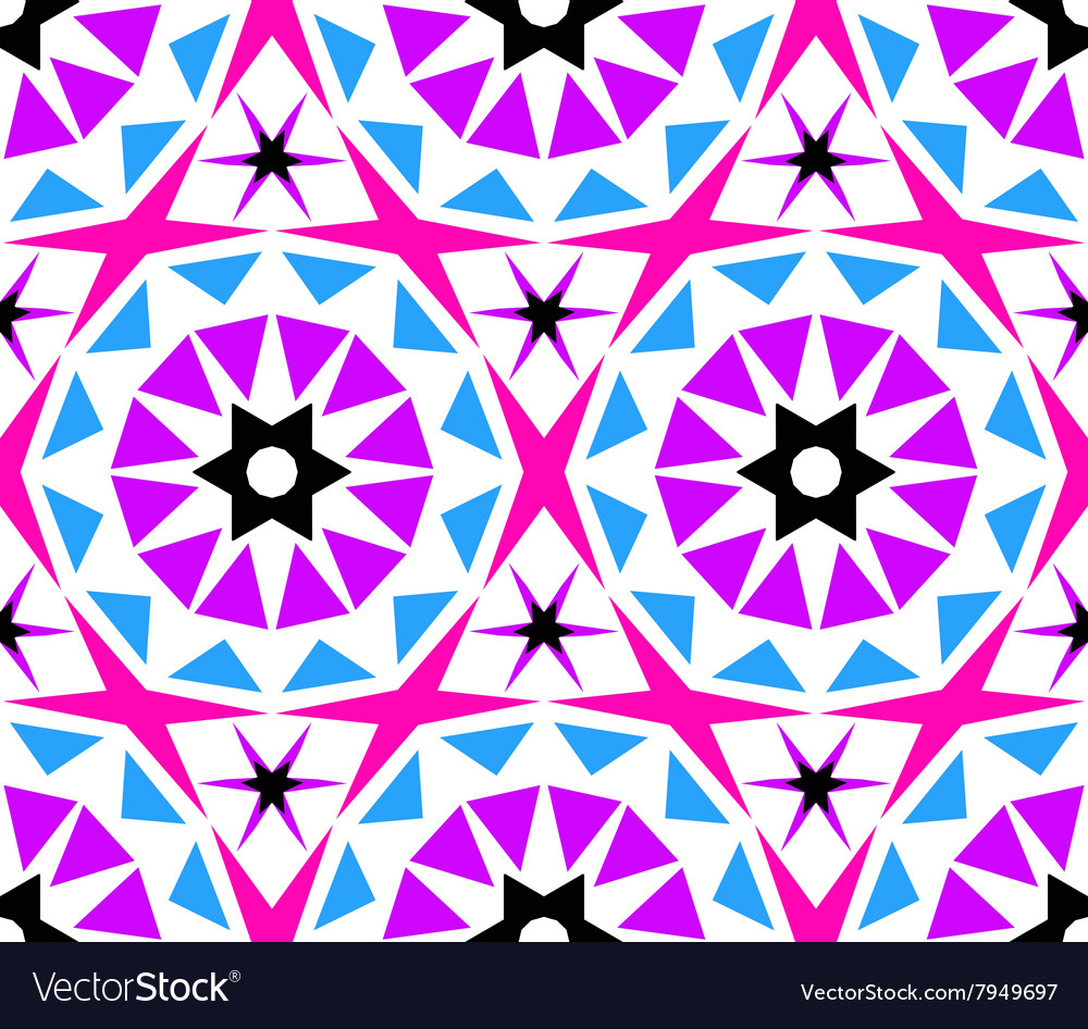 Kaleidoscope abstract flower pattern vector