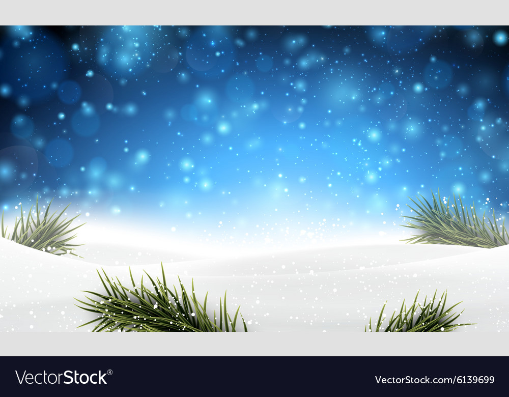 Christmas background with snow vector