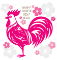 The Rooster Paper Cut Art vector image