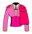 spanish torero jacket icon cartoon vector image