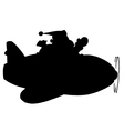Santa Claus cartoon silhouette vector image