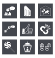 Icons for Web Design set 35 vector image