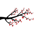 Branch With Heart vector image