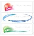 Set of banners with feathers vector image