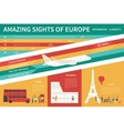 Amazing Sights Of Europe infographic flat vector image