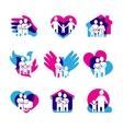 Family Logo Set vector image