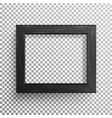 realistic photo frame isolated on vector image