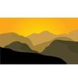 Silhouette of desert landscape vector image