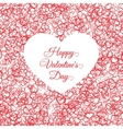 valentines day vintage lettering background with vector image