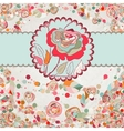 Vintage card with rose template EPS 8 vector image