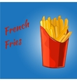 French fries on the blue background vector image