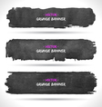 Grunge banners set vector image vector image