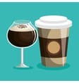 delicious coffee shop products vector image