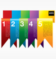 Vertical ribbon banners EPS10 vector image vector image