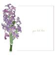 hyacinth minimal card vector image vector image