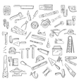 Construction tools and equipment objects vector image