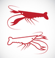 image of an lobster design vector image vector image
