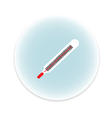 a mercury thermometer vector image