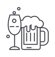 Alcoholic drinks line icon sign vector image