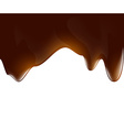 Background of liquid chocolate vector image