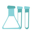 beaker and test tubes cartoon vector image