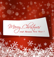 cute Christmas message in red background vector image
