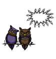 cute owls-100 vector image