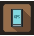 Global Positioning System icon flat style vector image