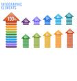Infographics elements percent progress vector image