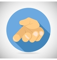 open Palm Pleading Icon Giving Hand Symbol Concept vector image